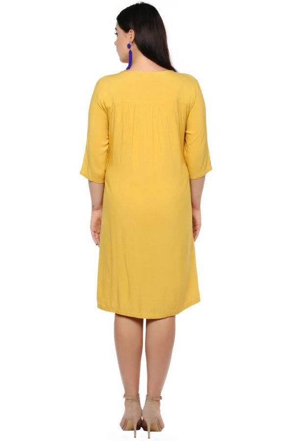 Mustard Flared Dress-1