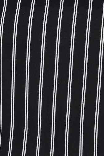 Plus Size Strips Cold Shoulder Dress-7