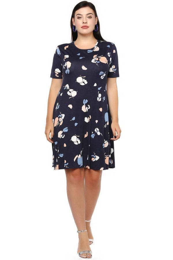 Blue Skater Dress-1