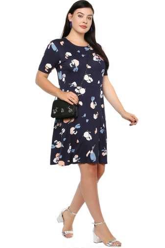 Blue Skater Dress-2