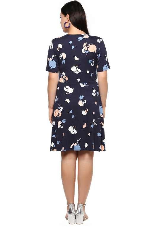 Blue Skater Dress-3