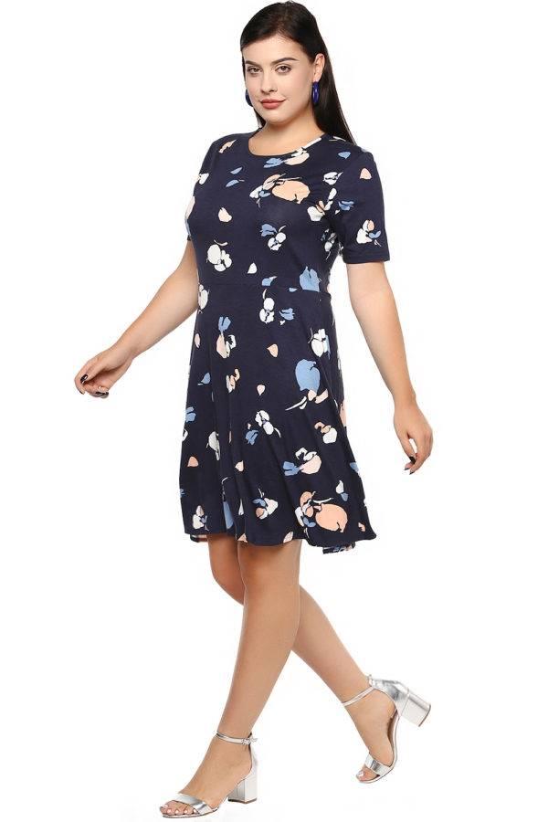 Blue Skater Dress-4