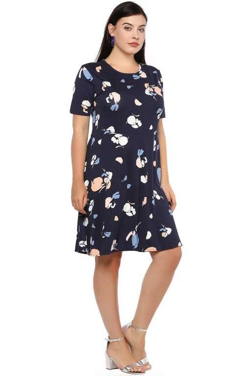 Blue Skater Dress-5