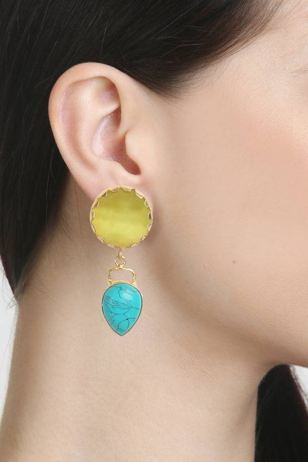 Natural Stones Statement Earrings-1