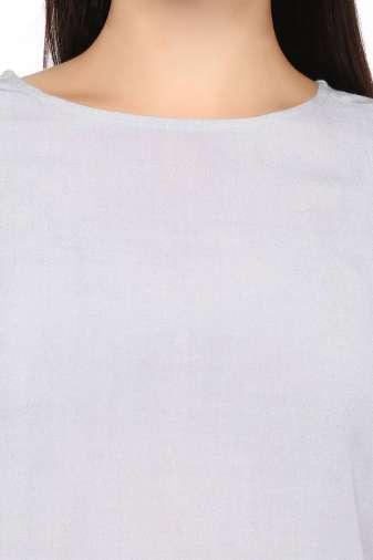 Plus Size Grey Flared Dress-6