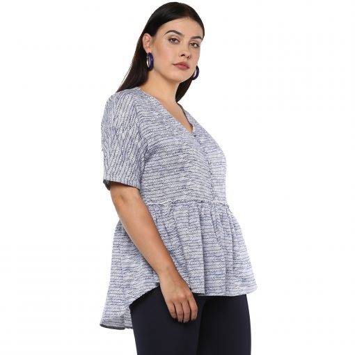 Plus Size Peplum Top-3