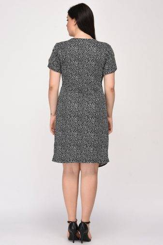 Plus Size Wrap Dress-1