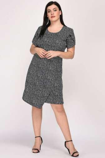 Plus Size Wrap Dress-front