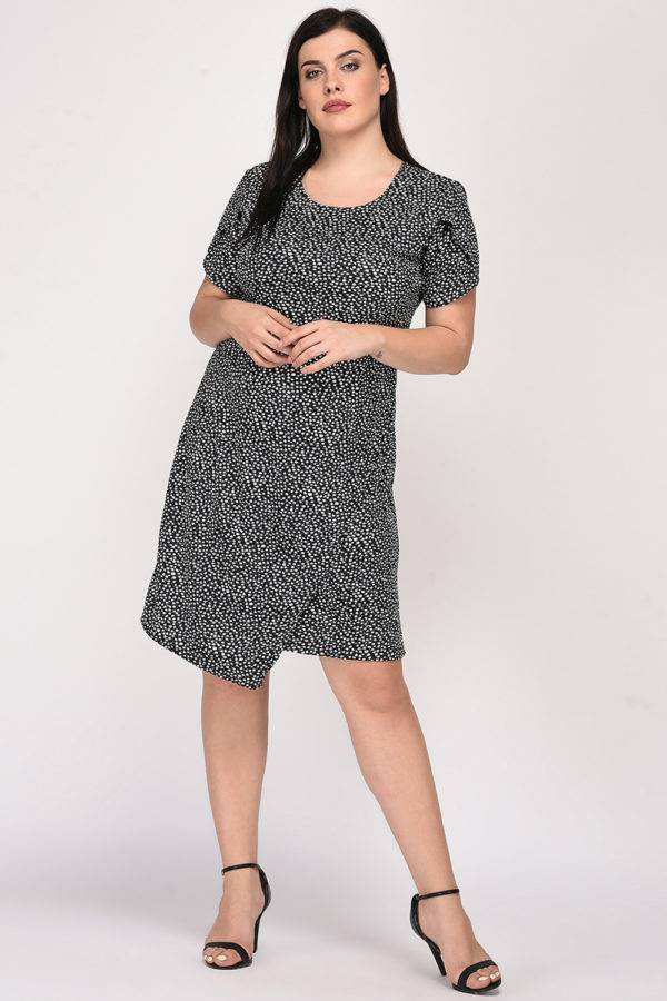Plus Size Wrap Dress-front