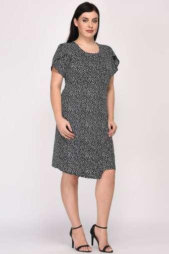 Plus Size Wrap Dress-4