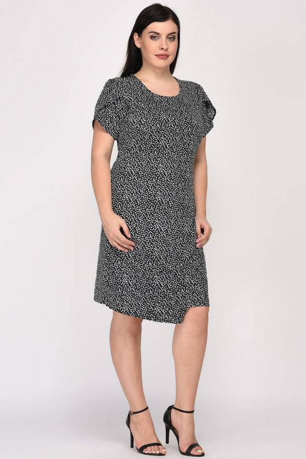 Plus Size Wrap Dress-4
