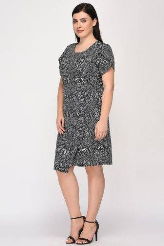 Plus Size Wrap Dress-5