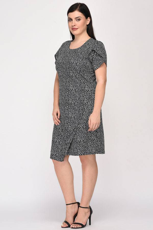 Plus Size Wrap Dress-5