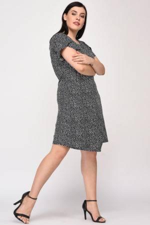 Plus Size Wrap Dress-7