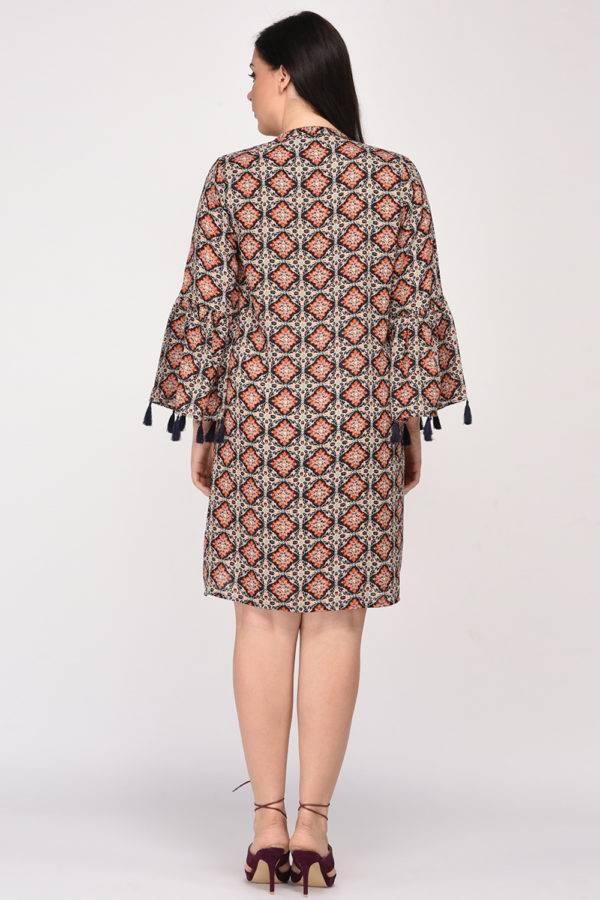 Plus SizeBohemian Layer Dress-1
