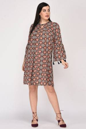 Plus Size Bohemian Layer Dress-2