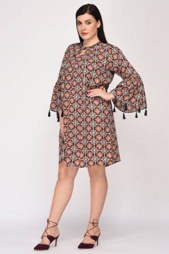Plus SizeBohemian Layer Dress-4