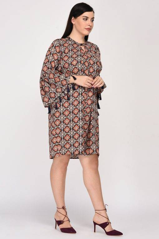 Plus Size Bohemian Layer Dress-5