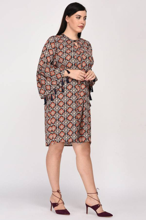 Plus SizeBohemian Layer Dress-5