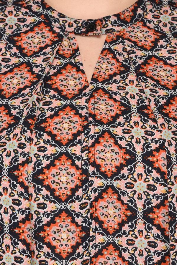 Plus SizeBohemian Layer Dress-6