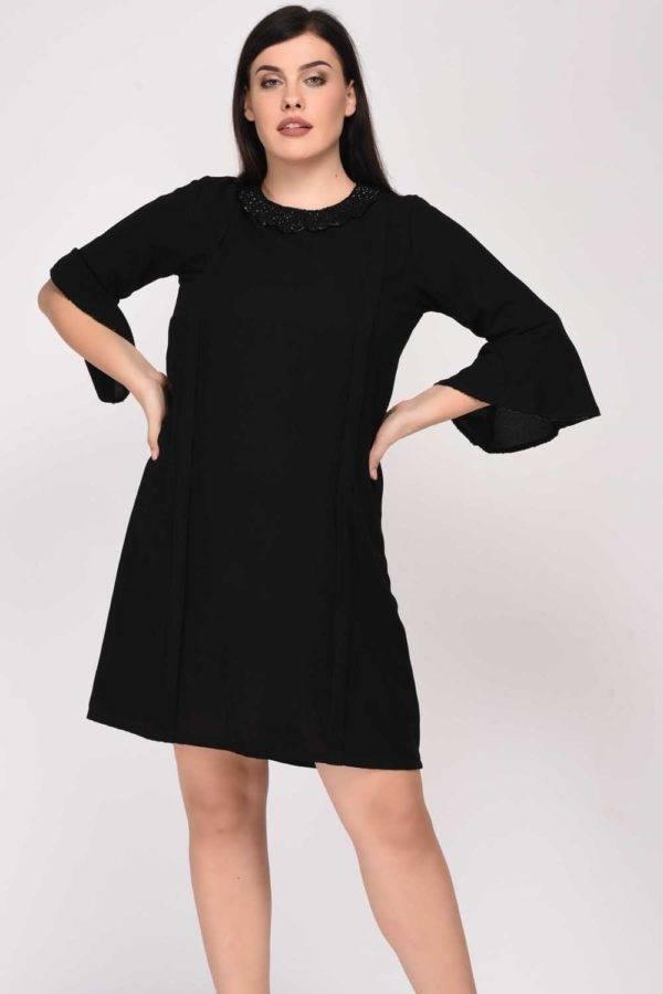 Black Sequin Dress-frontshot