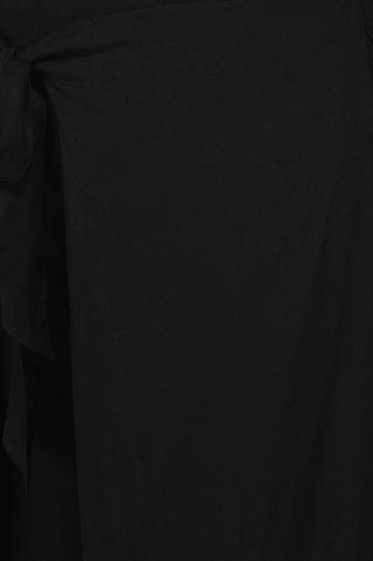Plus Size Black Wrap Trouser-4