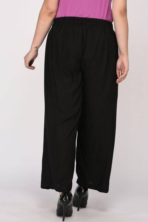 Plus Size Black Wrap Trouser-6