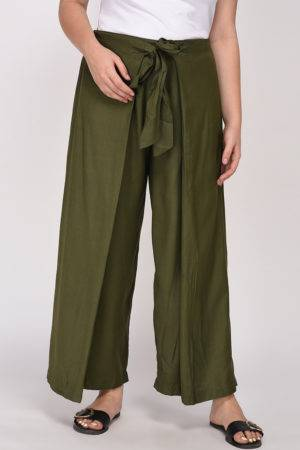 Plus Size Olive Green Trouser-1