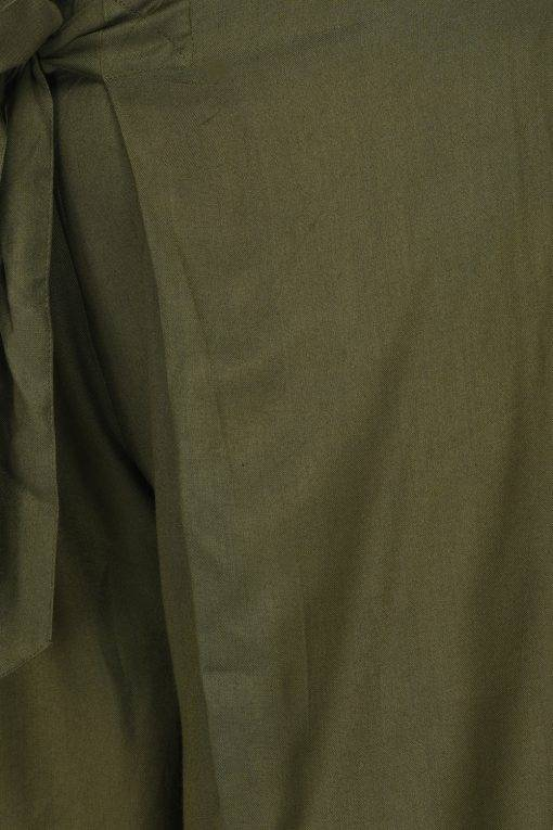 Plus Size Olive Green Trouser-4
