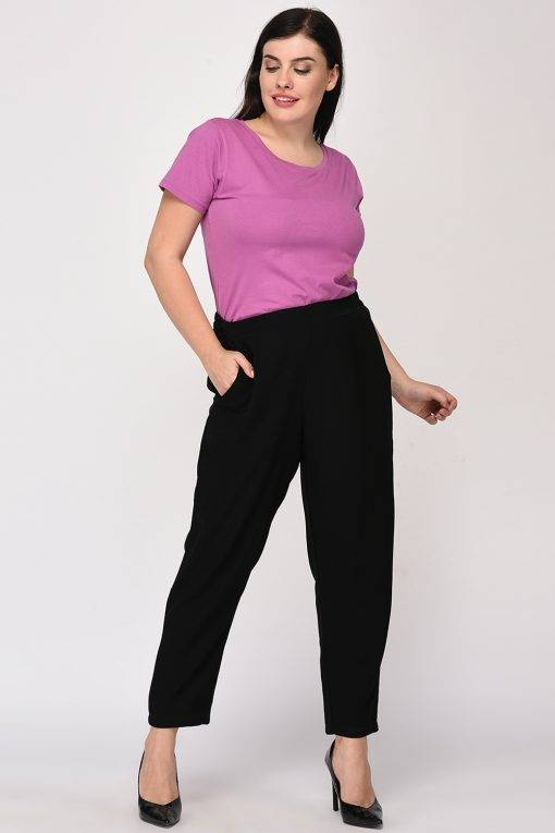 Black Solid Trouser1