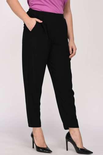 Black Solid Trouser5