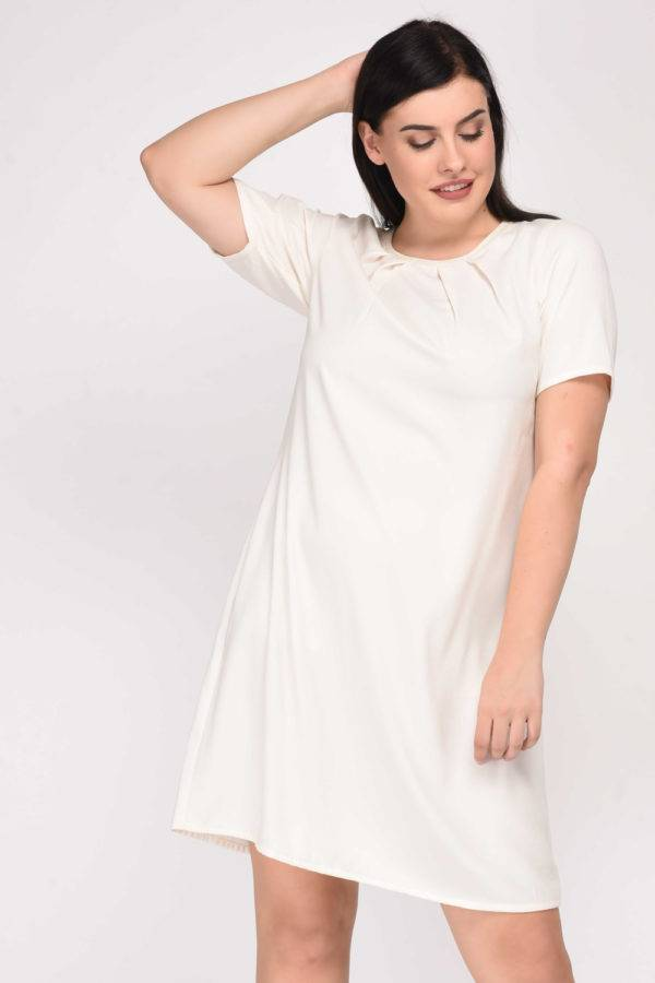 White Aline Beaded Dress