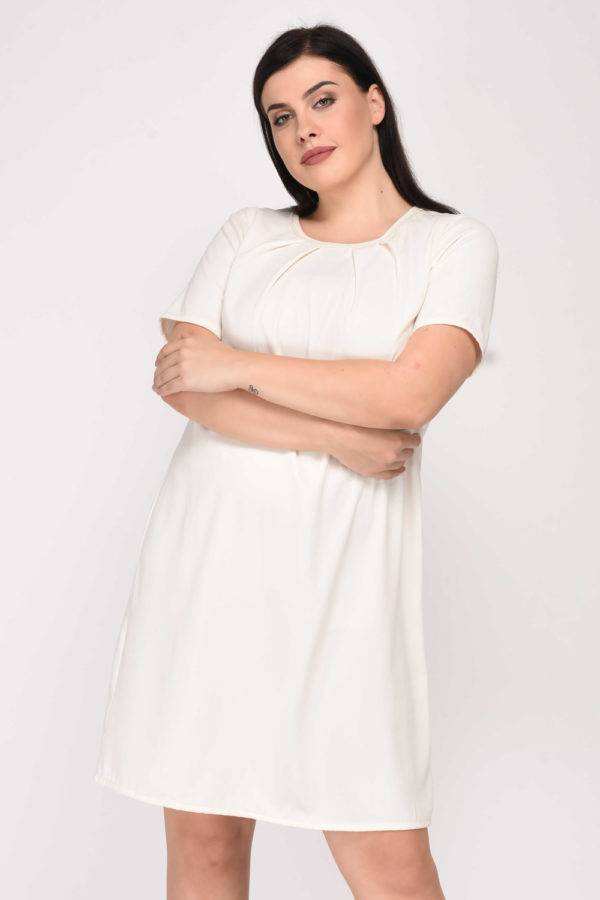 White Aline Beaded Dress10