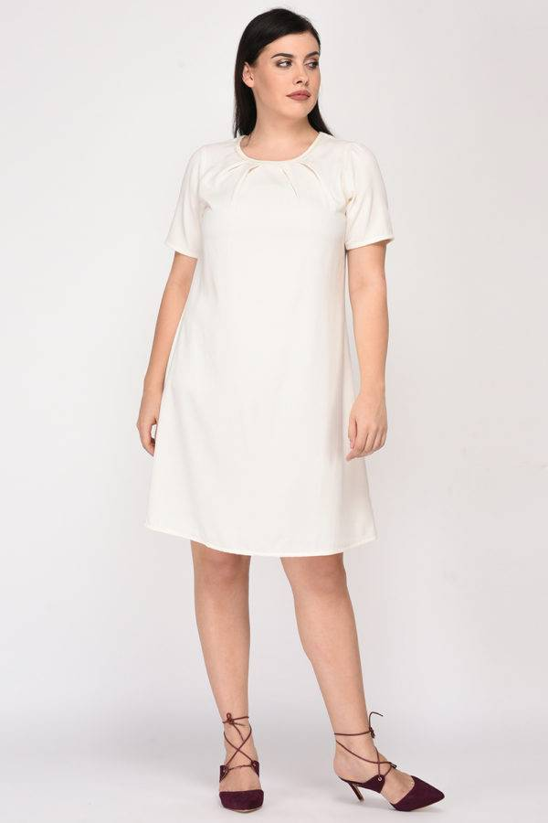 White Aline Beaded Dress4