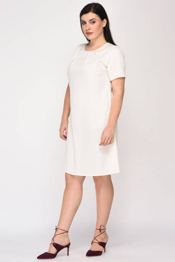 White Aline Beaded Dress5