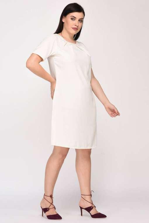 White Aline Beaded Dress6