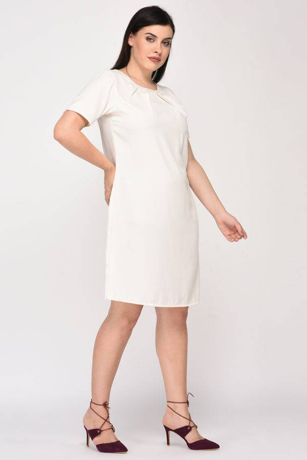 White Aline Beaded Dress6