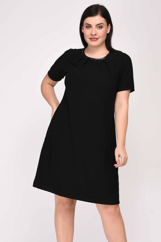 Black A-Line Beaded Dress-1