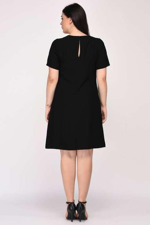 Black A-Line Beaded Dress-2