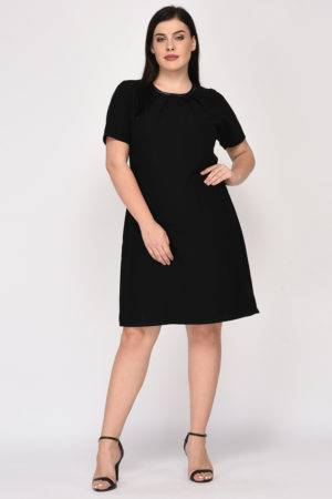 Black A-Line Beaded Dress-4