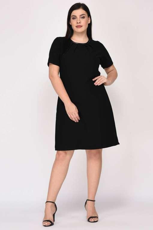 Black A-Line Beaded Dress-4
