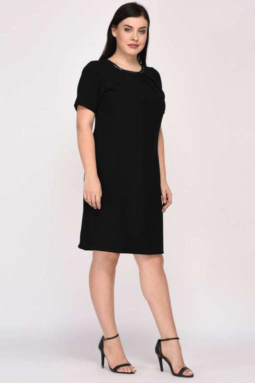 Black A-Line Beaded Dress-7