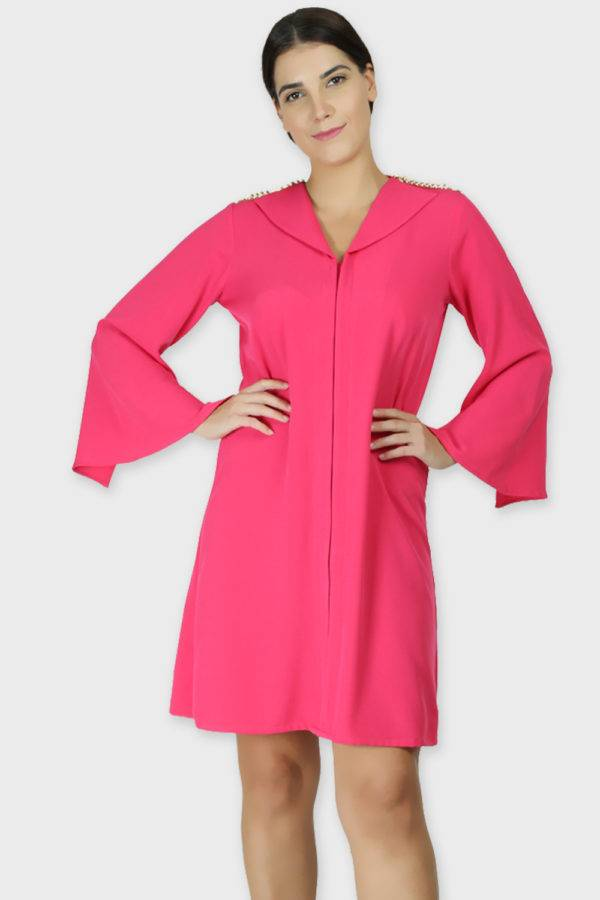 PINK COAT STYLE DRESS4