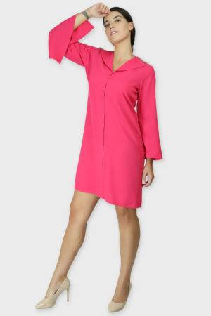 PINK COAT STYLE DRESS5