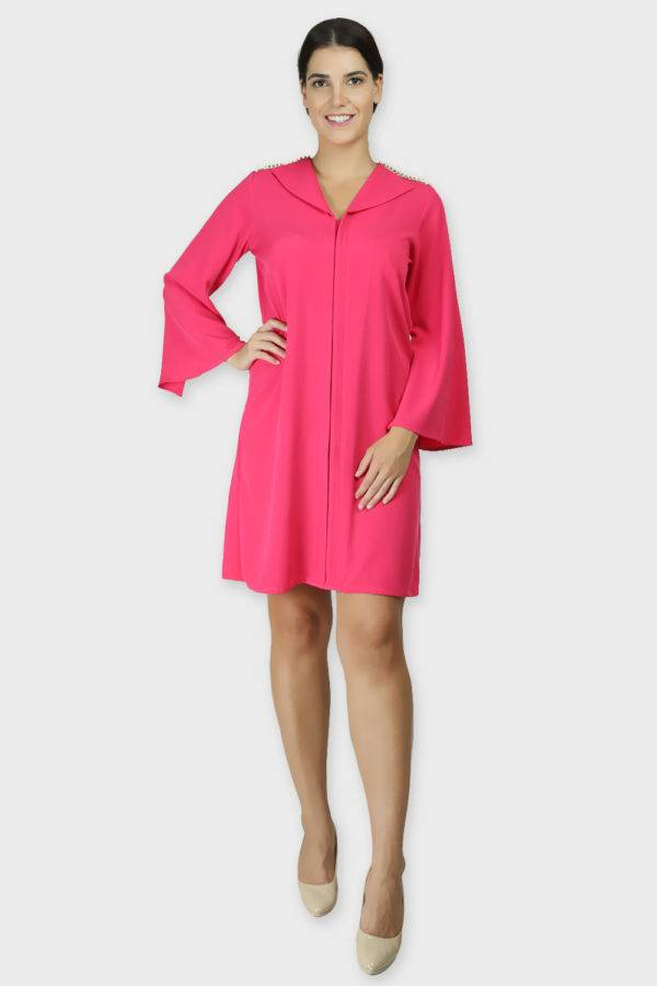 PINK COAT STYLE DRESS6