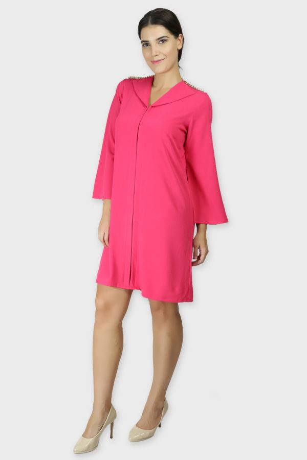 PINK COAT STYLE DRESS7