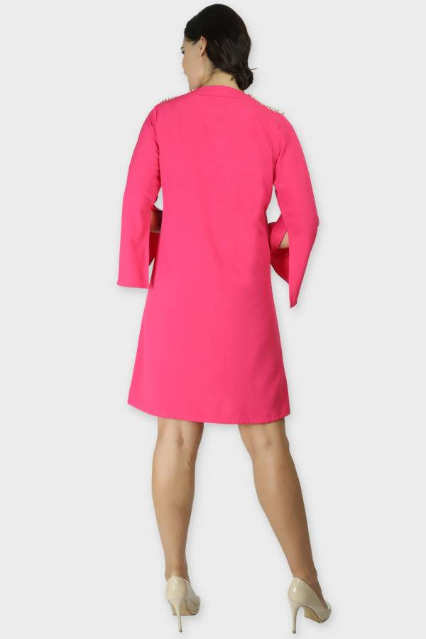 PINK COAT STYLE DRESS8
