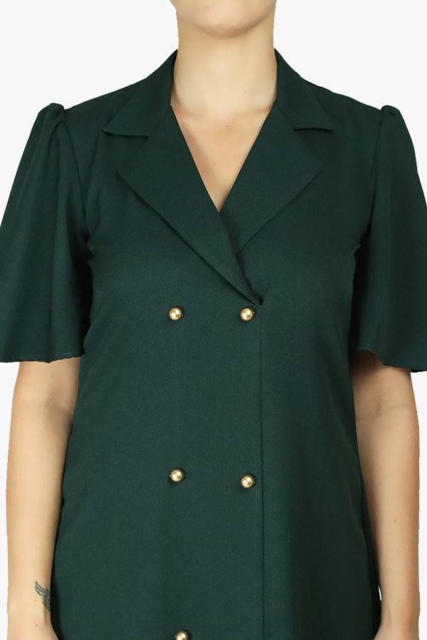BOTTLE GREEN TRENCH DRESS1