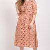 Peach Long Flared Dress_1