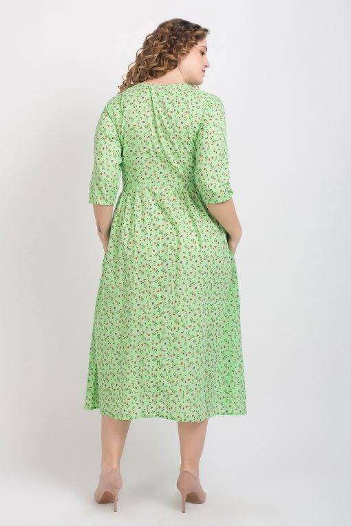Long Floral Shirt Dress3